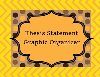 Thesis Statement Graphic Organizer