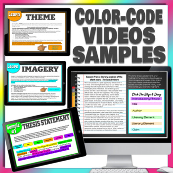 THESIS STATEMENT: LITERARY ANALYSIS DRAG & DROP ACTIVITY paperless