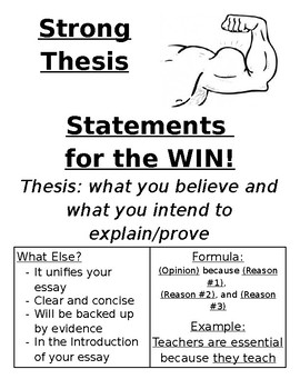 Thesis Statement Poster!
