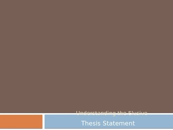 Thesis Statement PowerPoint: Introduction or Review