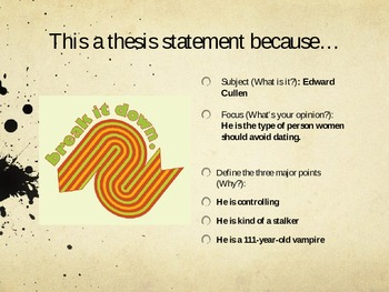 Thesis Statement Powerpoint