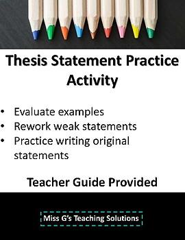 Thesis Statement Practice