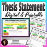 Thesis Statement Mini Lesson Digital and Printable
