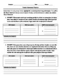 Thesis Statement Practice & Essay (4 paragraph) Rough Draf