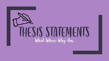 Thesis Statement Presentation