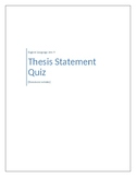 Thesis Statement Quiz