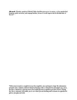 Thesis Statement Rubric/Activity