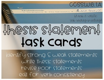 Thesis Statement Task Cards