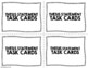 Thesis Statement Task Cards - Black & White Ink-Saver - Set of 32 cards