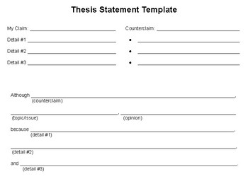 Thesis Statement Template By Special Ed Concepts | TpT
