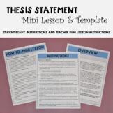 Thesis Statement Template & Mini Lesson