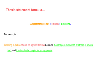 Thesis Statement Tutorial PPT.