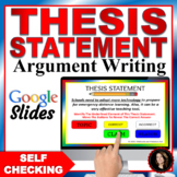 Thesis Statement WORKSHOP! Printable Thesis Statement Worksheets