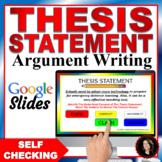 Thesis Statement Worksheets Printable WORKSHOP!