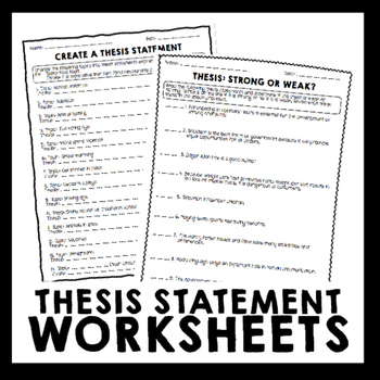 thesis statement worksheet 5th grade Monday - no school - teacher workday/grade day  week of march 5th posted   read pp 56-68 in roll of thunder and complete snapshot journal worksheet.