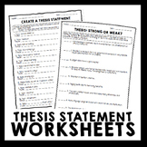 Thesis Statement Practice Worksheets