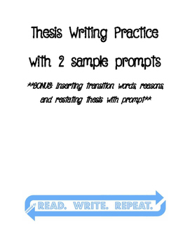 Thesis Statement Writing Practice