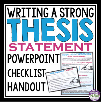 Access plan in dissertation