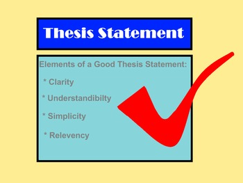 Thesis Statements:  A Fun One-Page Guide with Partner Practice