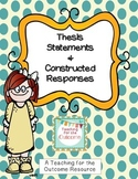 Thesis Statements & Constructed Responses