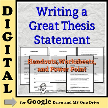 Thesis Statements DIGITAL: Writing a Great Thesis - for Google Drive