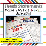 How to Write Thesis Statements - Common Core Aligned