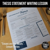 Thesis Statements are like Menus (DISTANCE LEARNING): Lesson for ANY Essay!
