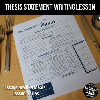 Thesis Statements are like Menus: A Writing Lesson for ANY Essay!