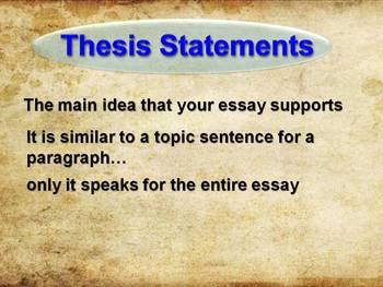 Thesis Statements for Historical Essays