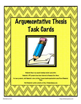 Thesis Task Card Bundle