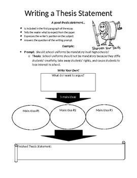 Thesis Worksheet
