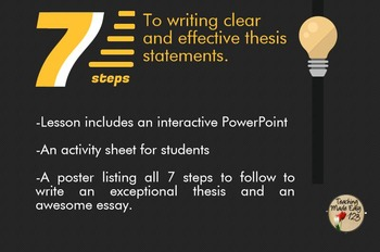 Thesis Writing Activity