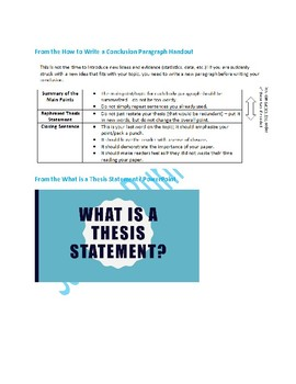Thesis Writing Research Project