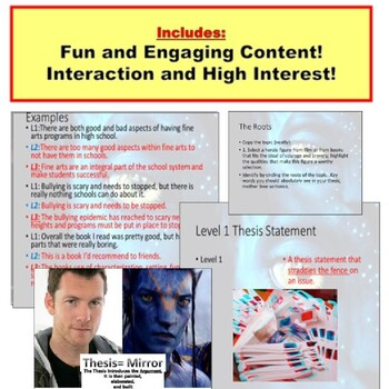 Thesis : Writing Unit PowerPoint