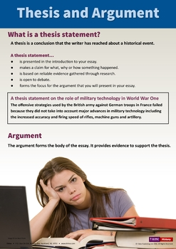 Thesis and Argument