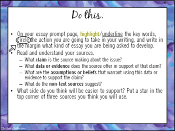 Thesis as Enthymeme PowerPoint Presentation for AP Language and Composition