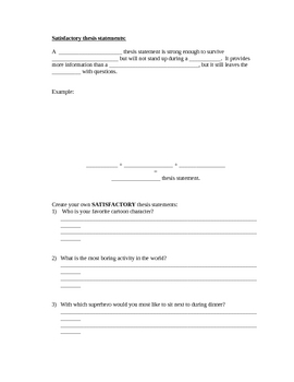 Thesis statements made easy - Cloze notes