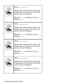 They All Saw a Cat by Brendan Wenzel Lesson Plan and Activities