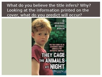 They Cage The Animals At Night Literature Circle Mini Unit