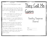 They Call Me Guero Reading Response Journal