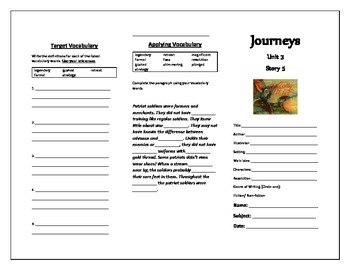 Journeys Grade 5 Trifold (They Called Her Molly Pitcher)