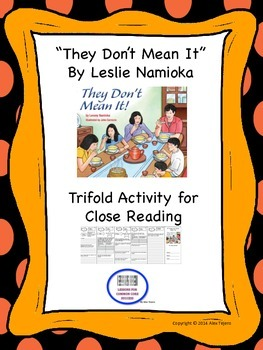 """""""They Don't Mean It"""" Trifold Activity McGraw Hill Reading"""
