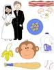 They Go Together Clip Art:  20 Matching Pairs in Color and Line Art