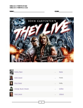 They Live: Reading Summary and Test Questions