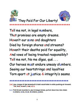"""They Paid For Our Liberty"" Poetry, Discussion & Message Clarification"