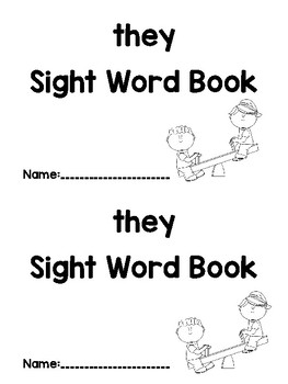 They Sight Word Book