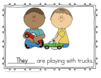 "Sight Word Practice Book and Emergent Reader-""They"""