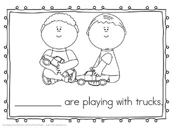 """Sight Word Practice Book and Emergent Reader-""""They"""""""