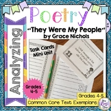 Poetry Task Cards They Were My People by Grace Nichols Poe