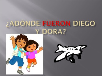"""They"" form of past tense: Adonde Fueron Diego y Dora"